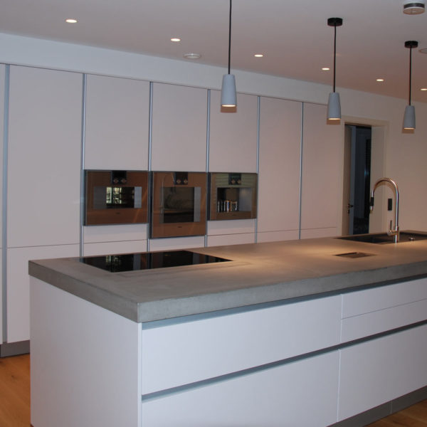 Ein Firmenneubau - Einfamilienhaus mit angeschlossenem Bürogebäude, Küche, Elektro Krauß