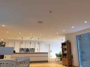 Verschiedne Features kommen bei dem Neubau des Einfamilienhauses in Verbindung mit dem Bürogebäude zum Einsatz