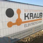 Firmenneubau Krauß Elektrotechnik Uttenhofen Bauzaun